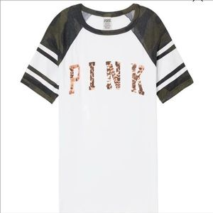 🆕 PINK BLING PERFECT CREW TEE